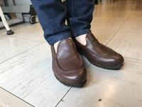 モカ入りスリッポン - 手づくり靴 仄仄工房(ホノボノコウボウ)