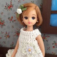 編みワンピモデルにリカちゃんをスカウト(笑) - 編み好き@amiami通信