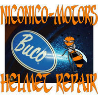 Helmet Repair ヘルメットリペア ヘルメット修理店 ニコニコモータース BUCOバイクシート張替え シートリペア SHEET REPAIR - HELMET REPAIR ヘルメットリペア ニコニコモータース