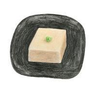 今日の絵「胡麻豆腐」 - vogelhaus note