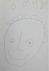 パパの似顔絵by4歳 - La Dolce Vita 1/2