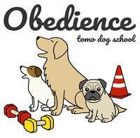 tomo dog school さんのオビディエンスイラスト - リンマンブルース(エフのため息)