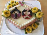 ワンコお雛様ケーキ - 小鉄と斗和の親子日記