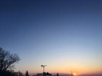 今朝の太陽 - 何もしない贅沢