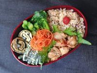 2/28 ホタテの甘辛煮弁当 - ひとりぼっちランチ