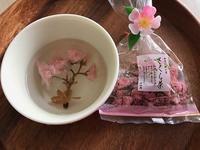 さくら茶に桜餅 - つれづれ日記