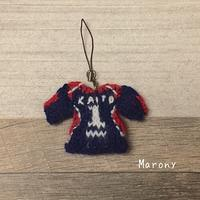 バレー部ユニフォームのストラップ - ミトン☆愛犬 編みぐるみ Maronyのアトリエ