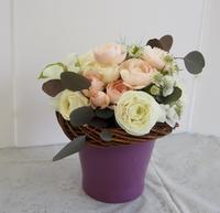 三国ヶ丘公民館レッスン2月花束 - グリママの花日記