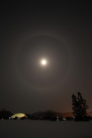 Quiet and tasteful winter night drawn with moonlight  - 北東北お天気BLOG