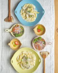 かきとかぶのクリームパスタ - 陶器通販・益子焼 雑貨手作り陶器のサイトショップ 木のねのブログ