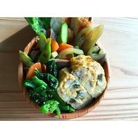 砂肝の炒め物とアサリの出汁巻き卵BENTO - Feeling Cuisine.com