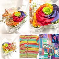 虹色のパワフルなピアノ - プリザーブドフラワーアレンジメント制作日記