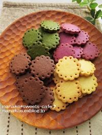 お花クッキー4種 - nanako*sweets-cafe♪