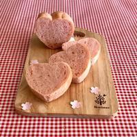 春色♡ピンクのハートパン - パンのちケーキ時々わんこ