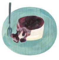 今日の絵「レアチーズケーキ」 - vogelhaus note