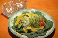 またまたサラダの夕食 - まほろば日記
