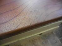 テーブルの割れ - 手作り家具工房の記録