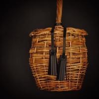 革のタッセルリボンと籠 - 雑貨店PiPPi