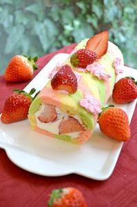 おひなさまの三色ロールケーキ - 調布の小さな手作りお菓子教室 アトリエタルトタタン