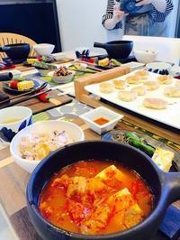 4月の講座西部ガスクッキングクラブでパジョン&キムチチゲ - 今日も食べようキムチっ子クラブ (料理研究家 結城奈佳の韓国料理教室)