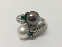 2カラーのパールのリング - 篠田恵美 ブログ 宝石に願いを