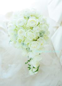 セミキャスケードブーケ カトリック神田教会挙式・ホテルオークラの花嫁様へ  - 一会 ウエディングの花