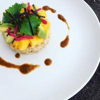 アボカドとマンゴーのちらし寿司 - 玄米菜食 in ニュージャージー