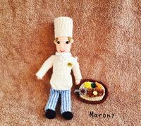 久しぶりの食べ物の編みぐるみ。アンガスステーキ編みました。 - ミトン☆愛犬 編みぐるみ Maronyのアトリエ