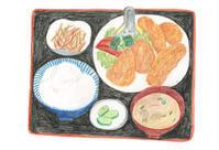 今日の絵「イカフライ定食」 - vogelhaus note