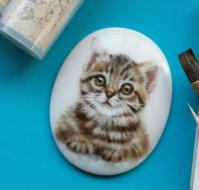 猫のブローチ - ポーセリンペインティング☆ブログ