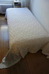 手編みひよこ豆のモチーフつなぎのベッドカバー91  - スペイン・バルセロナ・アンティーク gyu's shop