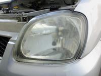 RA1Cプレオ 車検準備(その1) ヘッドライト磨き - 青いそらの下で・・・