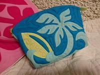 🌴と🏄ポーチ (大) - ほっと一息・・~Sakura's Hawaiian QuiltⅡ