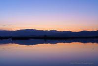 福島潟夜明け - デジタルで見ていた風景