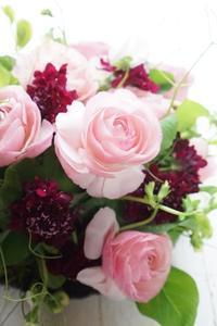春爛漫のプレートコンポジション - お花に囲まれて