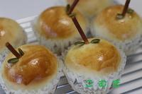 リンゴカスタードパン - パン・お菓子教室 「こ む ぎ」