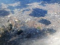 藤田八束のANAの旅@空から見る大阪の街と古墳群、大阪城の全景を空から見ると大阪都市構想が見えてくる - 藤田八束の日記