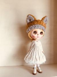 キツネのお帽子とワンピース - *猫のしっぽとゆるり手作りライフ*