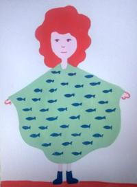 白い服 - たなかきょおこ-旅する絵描きの絵日記/Kyoko Tanaka Illustrated Diary