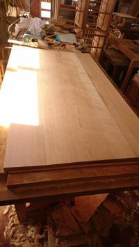 850×1600mm 引き出し付きダイニングテーブル 製作その3 完成 - KAKI CABINETMAKER