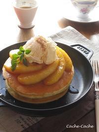キャラメルりんごのもちもちホットケーキ♪ - Cache-Cache+