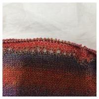 ショール:ユウヤケのソラ Sunflower Shawlette(3) - よなよな編み物
