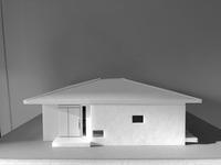 『中庭を囲む方形の家』模型とパース - 桂建設の日々ブログ