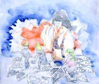 公募展用習作その1仮題:静と動 - ryuuの手習い