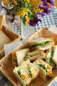 プルマンブレッドでサンドイッチ! - 小麦の時間   京都の自宅にてパン教室を主宰(JHBS認定教室)
