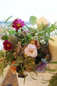 秋の装花 TERAKOYA様へ - 一会 ウエディングの花