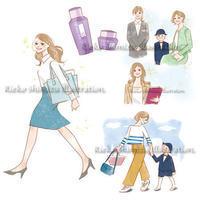 DHC会報誌「みんな、元気?」女性イラスト - 女性誌を中心に活動するイラストレーター ★★清水利江子の仕事ブログ