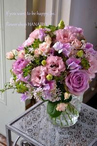 お世話になった方に♪淡いパープル色の花束。 - 花色~あなたの好きなお花屋さんになりたい~