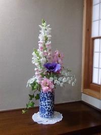 金魚草、アネモネ、レースフラワーと春の花々 - 活花生活(2)