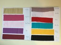 3月15日  ブティの布、バチストのカラー版の見本 - パリからの手芸便り